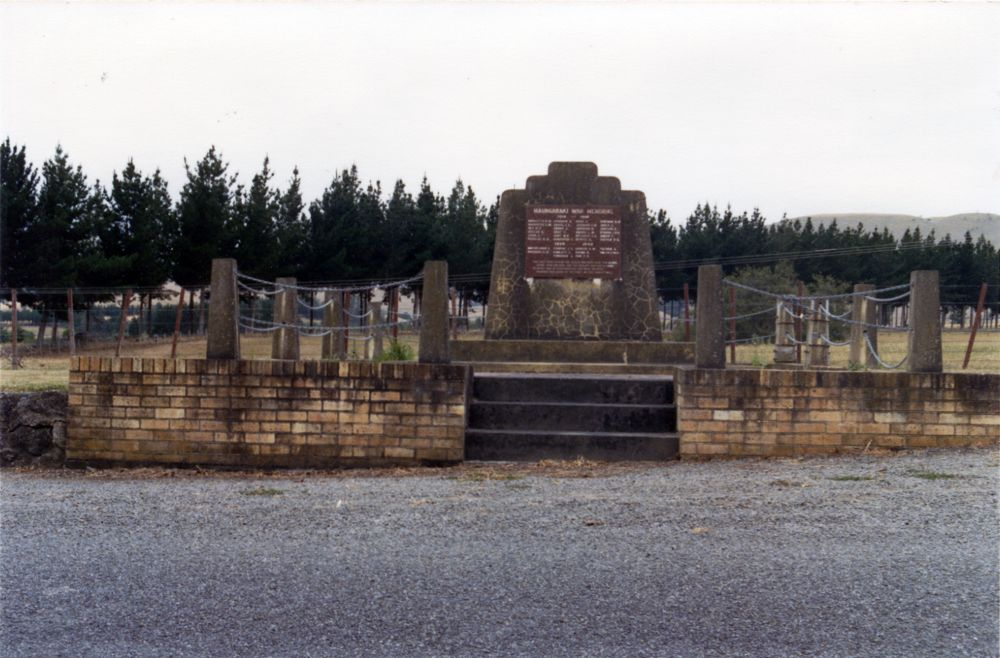 Maungaraki War Memorial, looking east.