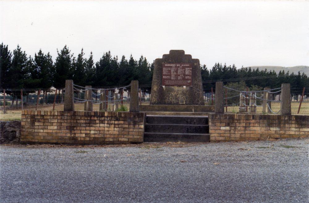 Maungaraki War Memorial, looking east.