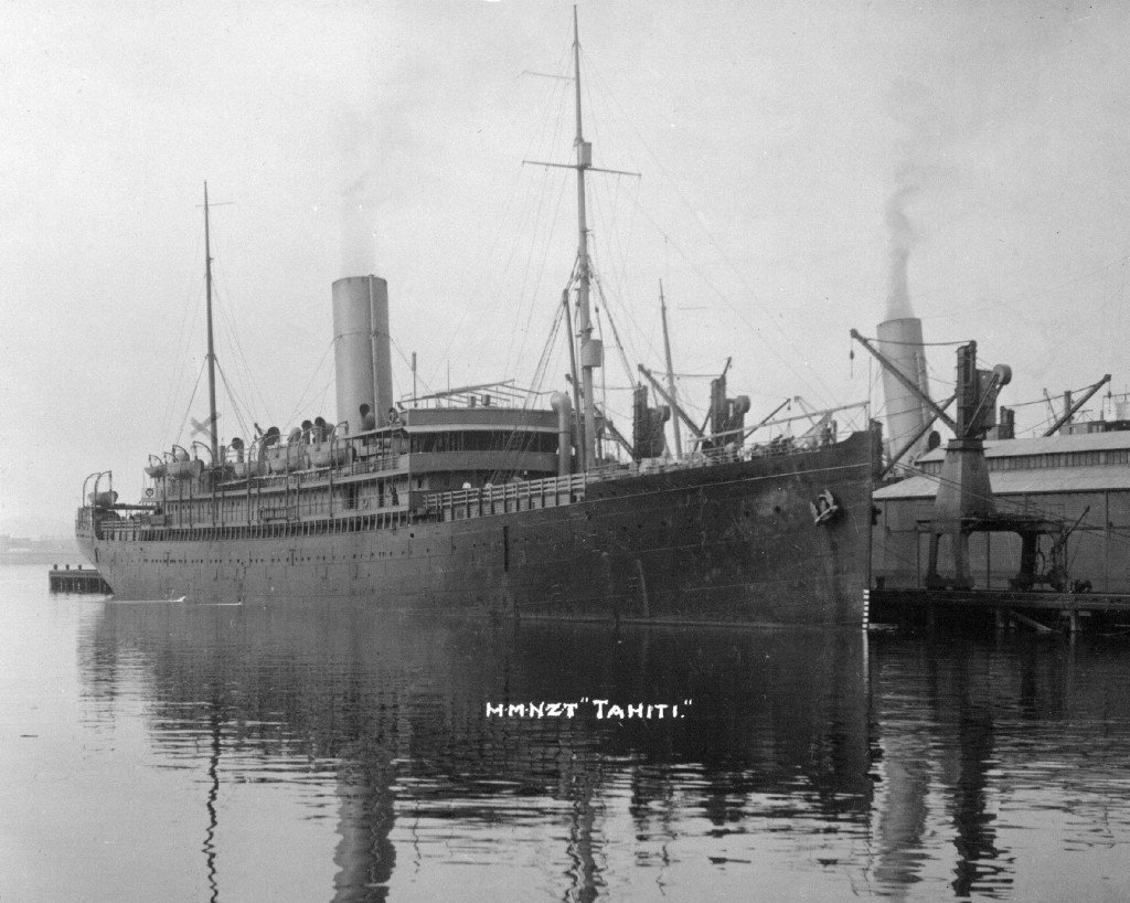 HMNZT Tahiti was one of the ships used in the transport of the Main Body to Egypt.