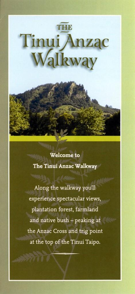 Tinui Anzac Walkway pamphlet